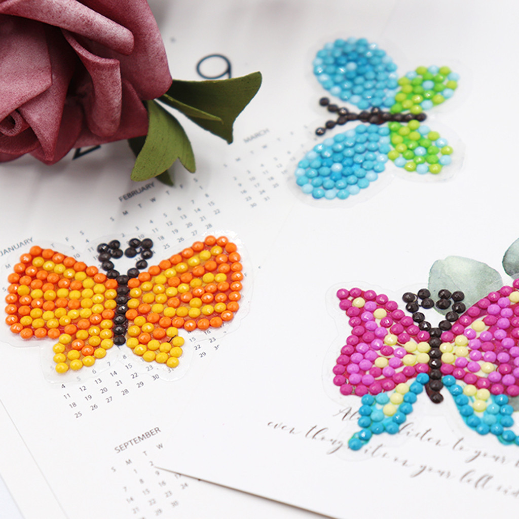 Kids Popular Gift Shmily 5D DIY Diamond Painting Stickers Kits for Kids Adults Beginners with Princess Animal Butterfly Diamonds Painting