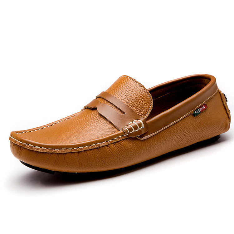 Men Loafers Shoes Brown/White/Black Genuine Leather Men Shoes Fashion Driving Shoes-in Womenu0026#39;s ...