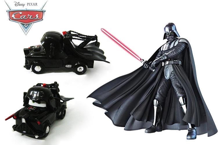 Cartoon Pixar Cars Black Star Wars car Figures Diecast Metal + PVC Car Model toys Collection children gift - Bechan Toy store