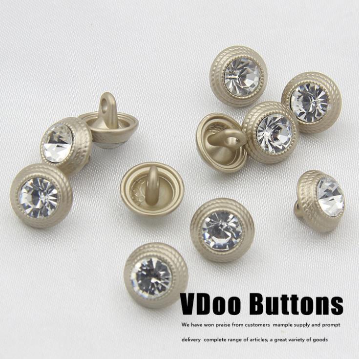 50pcs 10mm Metal Tyrant gold diamond lace shirt buttons decorative buttons sewing supplies Botoes rhinestone button(China (Mainland))