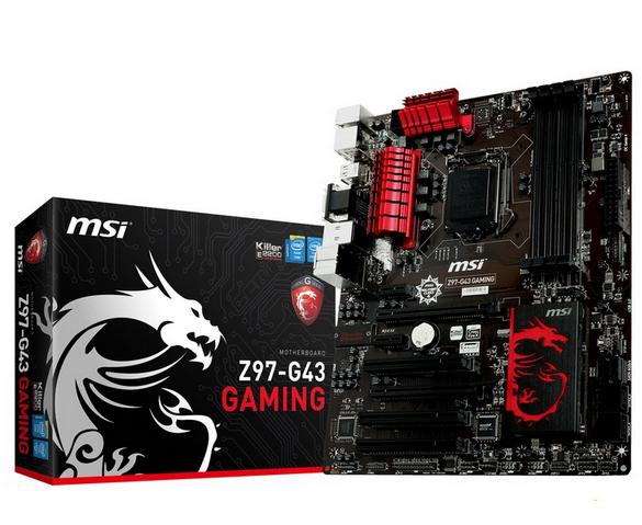 Z97-G43 GAMING Motherboard, LGA1150 VGA + DVI + HDMI PCI-E 3.0 Core i7 / i5 / i3 / Pentium / Celeron DDR3 computer motherboards(China (Mainland))