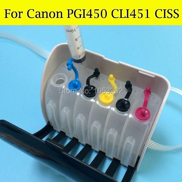 Empty Ciss System for canon PGI-450XL CLI-451XL ciss use for canon MG5440 ip7240 with pgi450 XL CLI-451XL ink cartridge <br><br>Aliexpress