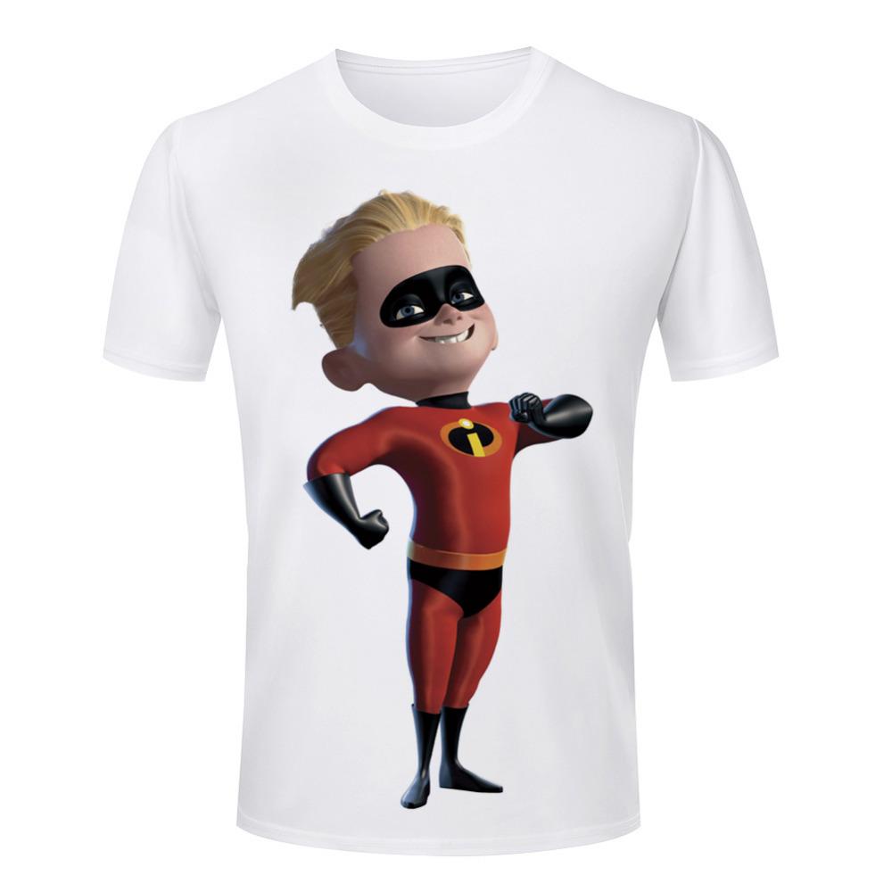 Cartoon Character T Shirt Design : Popular the incredibles men t shirt short sleeve cartoon