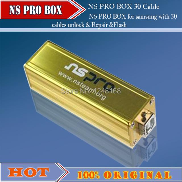 Original NS Pro box NSPro box with 30 cables for Samsung cell phones unlock & Repair &Flash(China (Mainland))