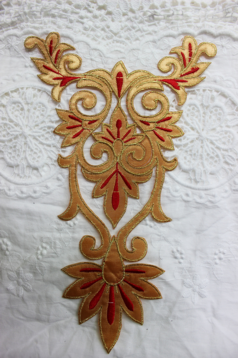 Aliexpress buy brown colors gold fabric applique