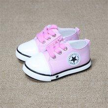 נעלי תינוק חדשות לנשימה נעלי בד נעלי בני 1-3 שנים 4 צבע נעלי תינוק ילדי בנות נוחות נעליים פעוטה(China)