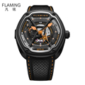 FLAMING Dietrich Series Organic Time OT 6 Orange Watches Men Luxury Automaitic Movement Fashion Wristwatch with