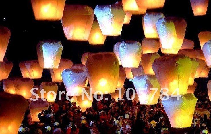Free shipping!!!kongming lantern 10pcs/Lot wishing light KongMing Candle Powered Flying Sky Lantern(China (Mainland))