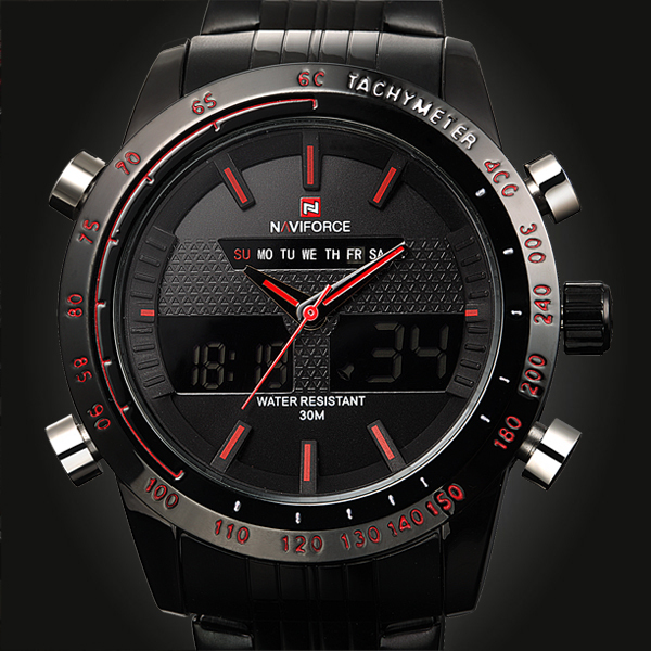 2015 Sports Watches Men Luxury Brand Male Watch Analog LED Digital Watches for Men Full Steel Men's Quartz Military Wristwatches(China (Mainland))
