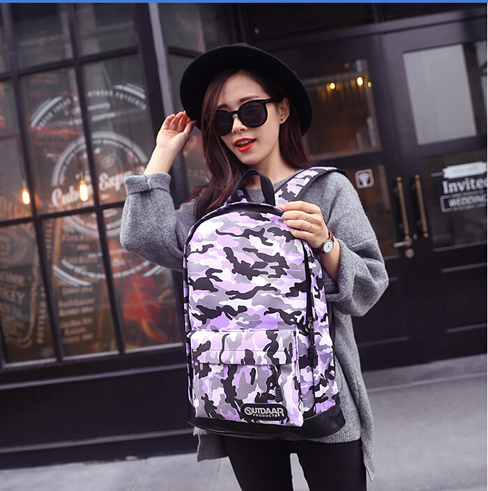 Shoulder bag handbag 2015 new college wind tide camouflage canvas backpack schoolbag lady - Online Store 437914 store