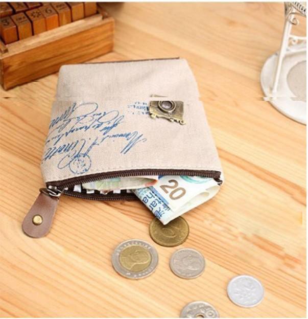 Винтажный женщины молния монета портмоне кошельки Мини мешок ретро ностальгический компактный деньги сумки