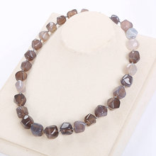 Koraliki z kamienia naturalnego naszyjniki Tassel kobiety duży naszyjnik bursztynowy klejnot mężczyźni nieregularne biżuteria gwiazda moc kryształ wiązane naszyjnik joga(China)