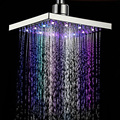 8 inch 7 Colors Change Automatically Glow LED Top Spray Shower Head for Bathroom Kitchen with
