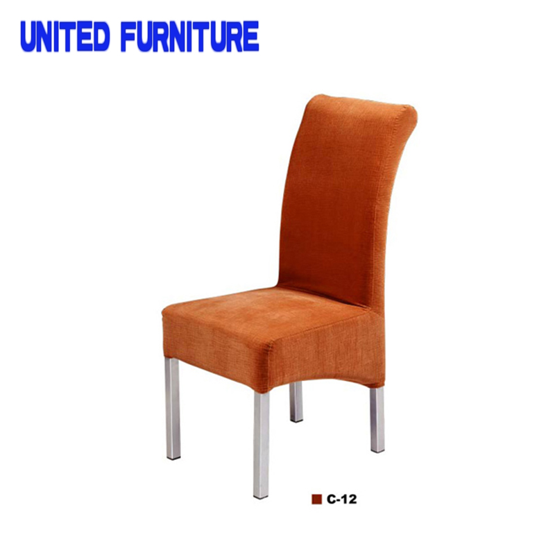 Modern Simple Design Metal Frame Iron dining Chair Dining Room Or Garden Chair With fabric Cushion(China (Mainland))