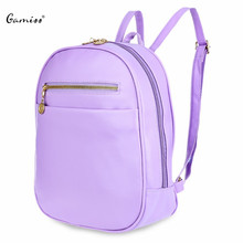 7 Colors Beauty Ladder Lock Button Shape Zipper Head Solid Color Portable Bag Backpack for Women Special Simple Design(China (Mainland))