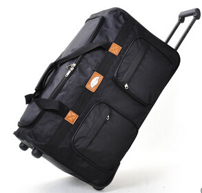Women and Men Fashion Waterproof Oxford Fabric Trolley Luggage Bag Large Boarding Air Carrier Abroad Travel Bags 25'' 32''(China (Mainland))
