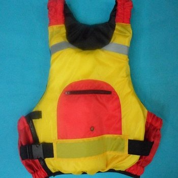 free shipping Canoe, kayak, inflatable boat drifting red and yellow life jacket (with rescue whistle)