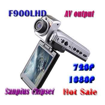 F900LHD Car DVR camera Recorder High Quality F900 HD 2.5'' LCD no HDMI output Night Vision TV out camcorder 1080P