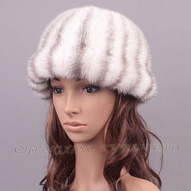 CX-C-197F Fashion Elegant Girls Real Mink Fur Korean Fashion Winter HatОдежда и ак�е��уары<br><br><br>Aliexpress