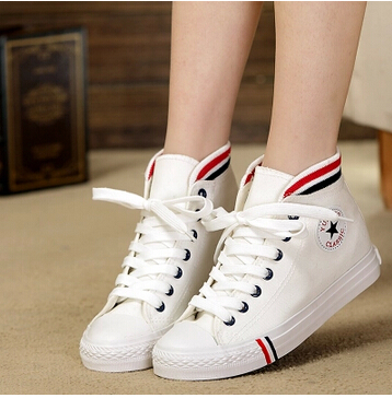 fashion spring women sneakers solid color platform high&low canvas shoes, high qulity - love bobo's store