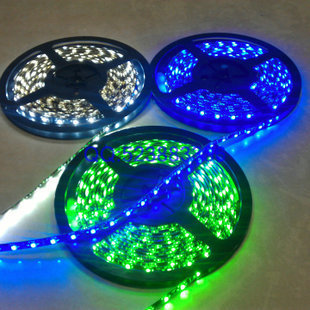 5m/lot Flexible SMD 3528 RGB Waterproof LED Strip Light Ribbon Tape Christmas Party Car Indoor Decoration decals