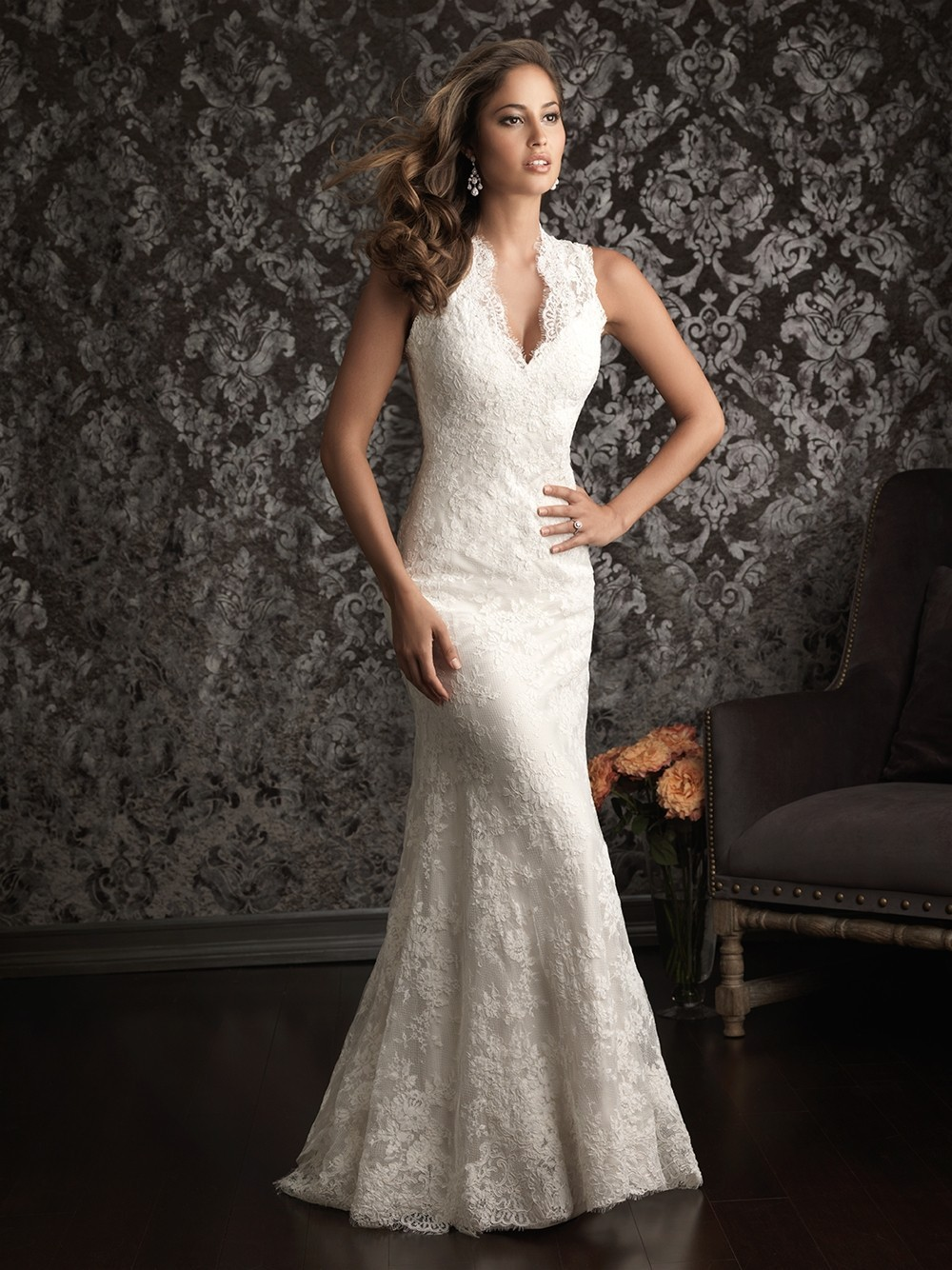 Western lace wedding dress - photo#15