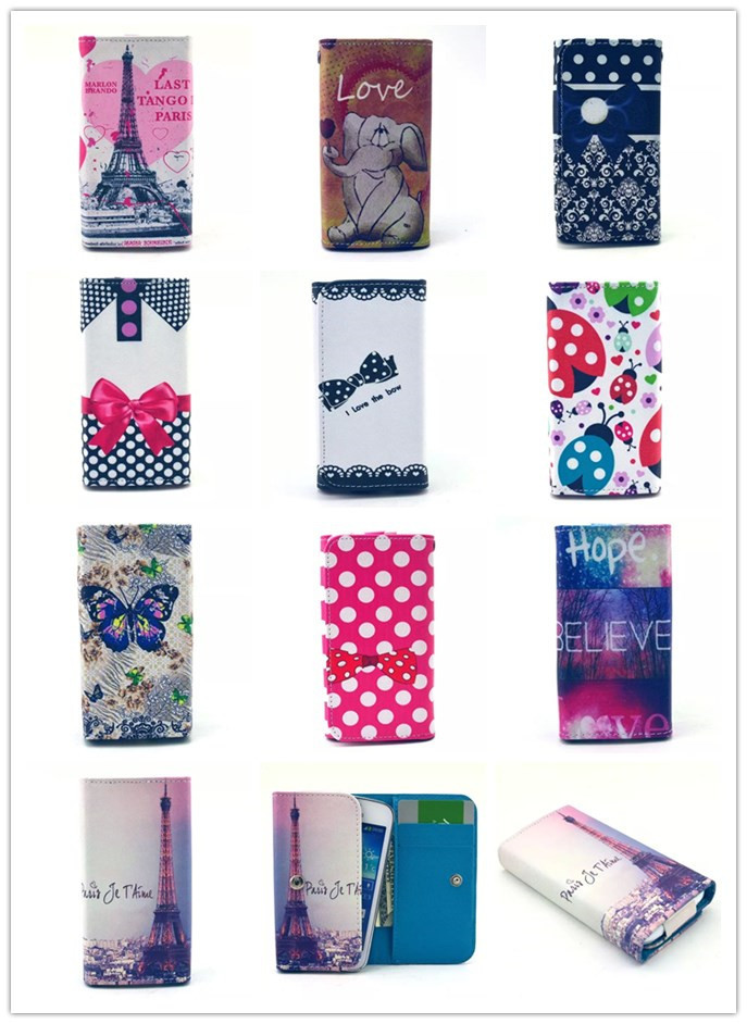 Multicolor Painted Fashion Wallet Flip Protective Cover Skin PU Leather Case In Stock For Sony Ericsson Xperia Pro Mk16i Case(China (Mainland))
