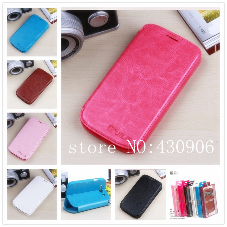 New items For Samsung Galaxy S3 III i9300 Luxury  Leather Case With Card Holders Wallet Stand Flip Cover Free shipping