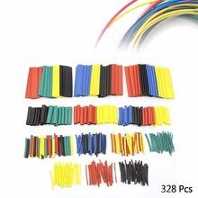 Высокое Качество Практических Новый 328 Шт. 5 Цветов 8 Размеры Ассорти 2:1 Полиолефиновый Термоусадочные Трубки Обруча Соединительная Муфта Комплект