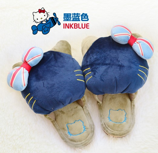 Package mail super cute creative winter thick cotton slippers at the end of the floor of a large female cotton slippers(China (Mainland))