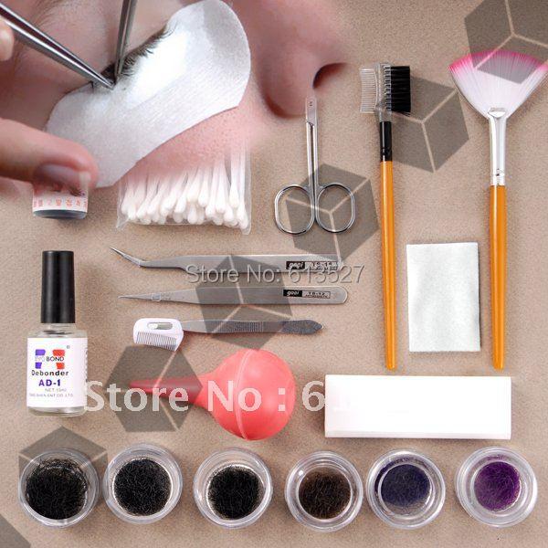 Free Shipping - Fake False Eyelash Eye Lashes Extension Kit Set Make Up Cosmetic