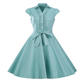 Women Summer Dress 2017 Big Bow Casual Party Dress short sleeve Retro 60s 50s Vintage Rockabilly