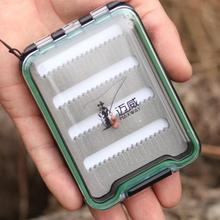 MAXWAY SLIM SLOTTED WATERPROOF FLY BOX PLASTIC FLY FISHING BOX(China (Mainland))