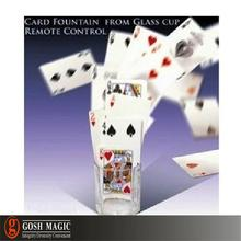 magi-c tricks gimmick magi-c tools Card Fountain From Glass Cup - Remote Control(China (Mainland))