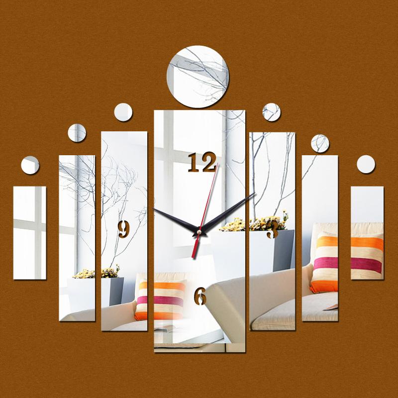 2016 new 3d wall clock home crystal art kids modern design watch living room acrylic mirror diy - Modern kids wall decor ...