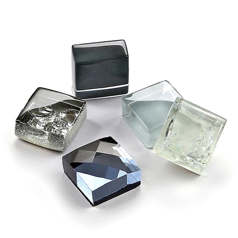 Zilver glas mozaïeken inkt blauw tegel keuken backsplash badkamer ...