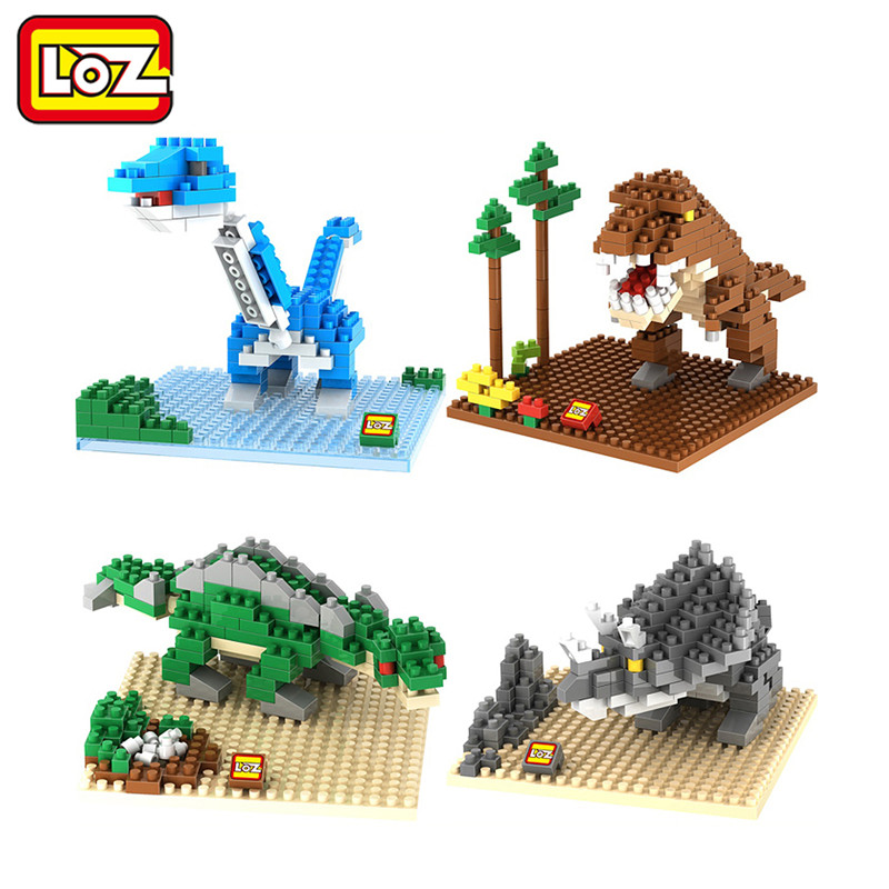 LOZ Jurassic Park Dinosaurs Diamond Building Blocks Action Figure DIY Toy Children Educational Model(China (Mainland))