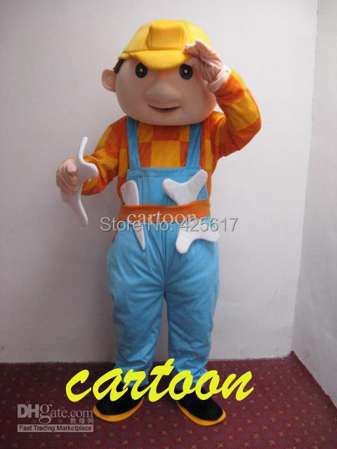 Hot selling!New classic Bob Builder Cartoon Fancy Dress Suit Outfit Animal Mascot Costume - Sam's World store