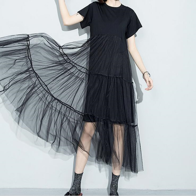 [Soonyour] New Arrivals summer style Loose Fake two short-sleeved straight dress slim Net Yarn Luscious 3361(China (Mainland))