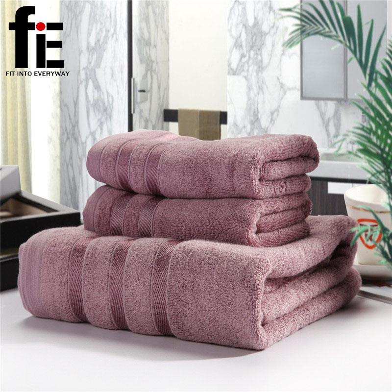 Free Shipping 100% Cotton Bamboo Fiber Towel Bath Towel/Beach Towel Jacquard Towel Set Soft And Fluffy Gift Set(China (Mainland))