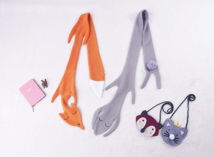 130cm Ins Fashion Winter Children Kids Baby Fleece Scarf Kids Cotton Neck Wear Blended Scarf Retail/wholesale