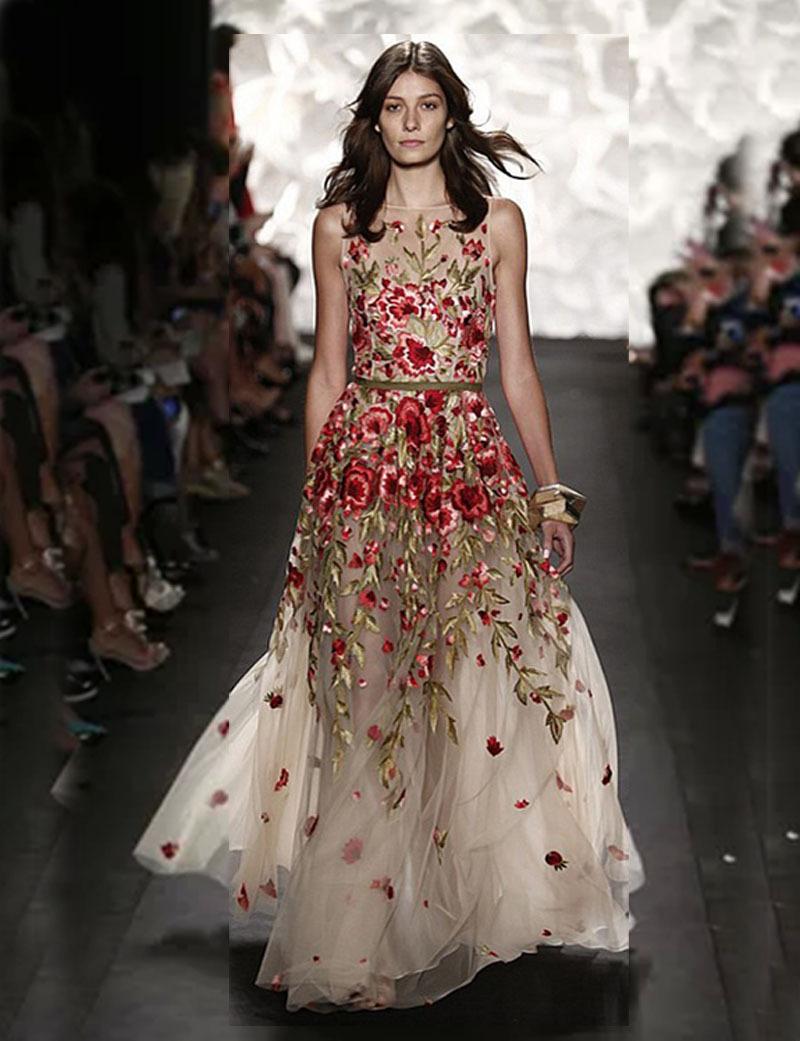 Rose Embroidery Dress   ausbeta.com
