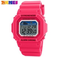 Candy Skmei Fashion Girls Wrist Watches Digital Watch for Kids Water Resistant 30m Back Light Alarm Calendar Pink 8 Colors