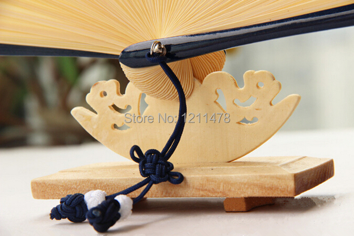 4.5*9.5*4cm wooden hand fan stand cradle for 21-23cm gift hand fan display(China (Mainland))