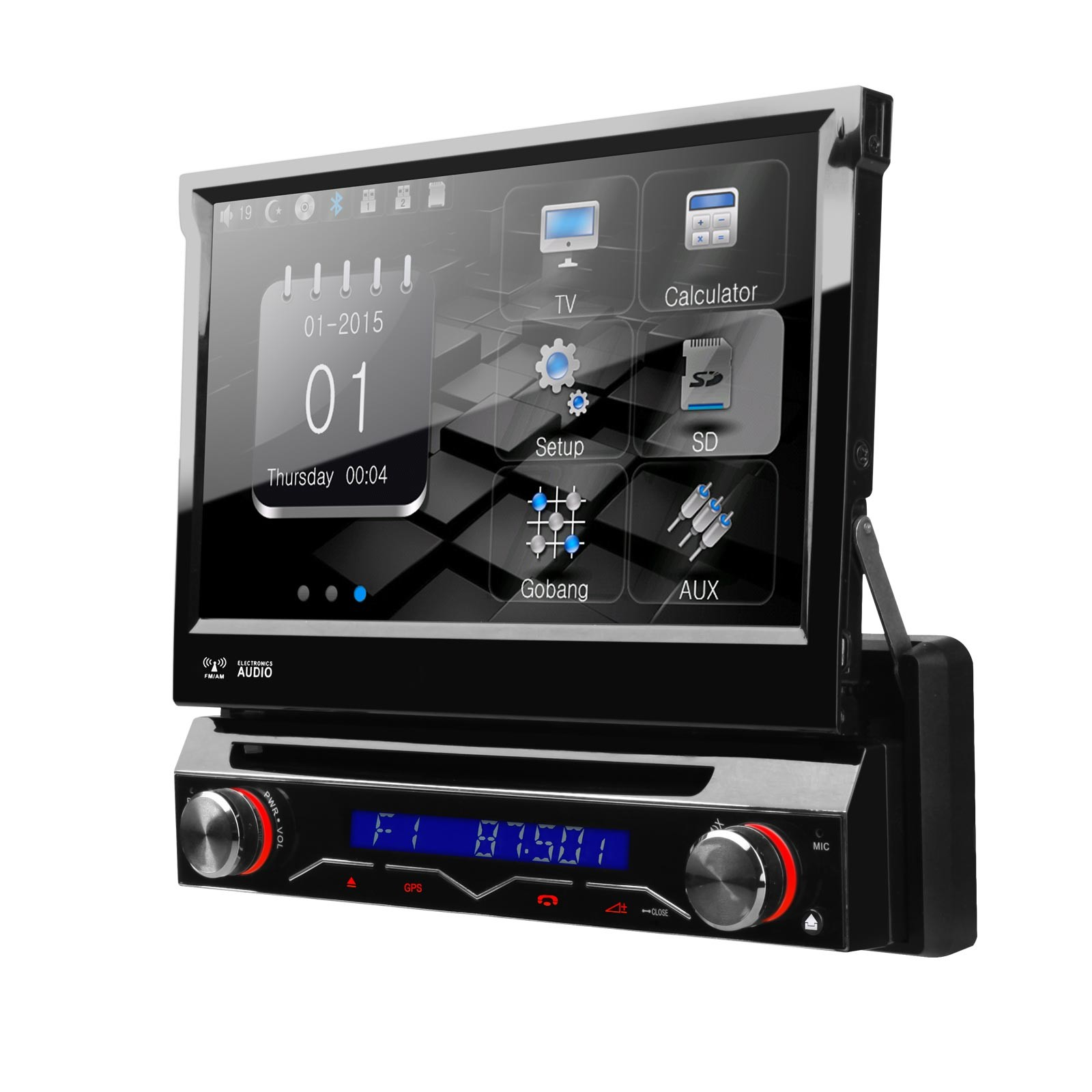 """7"""" Single Din Car DVD One Din Car Radio 1 Din Autoradio with Detachable Front Panel & Android Mirror Link Support(China (Mainland))"""