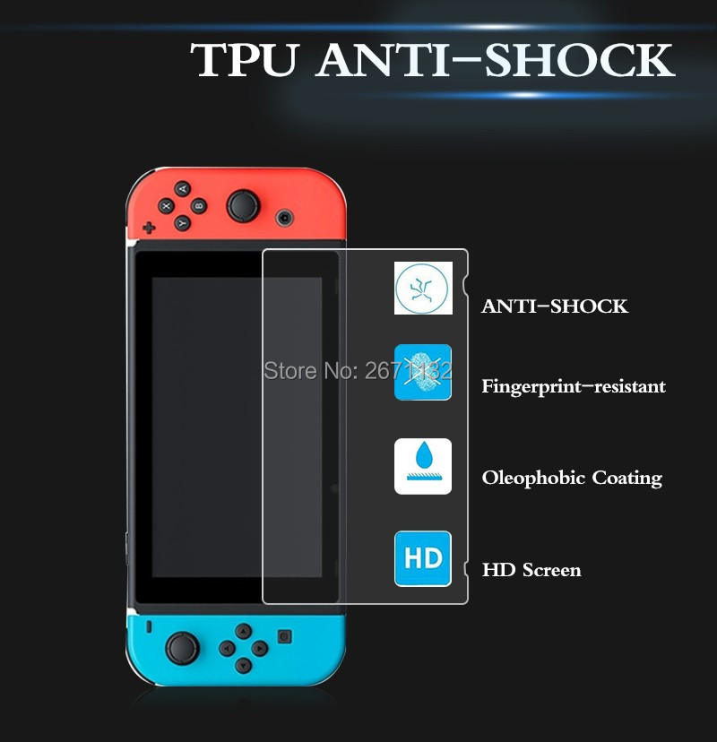2Pcs for Nintendo Switch Protector Premium Tempered Glass Screen Protector for Nintendo Switch NS Screen Protector Accessories