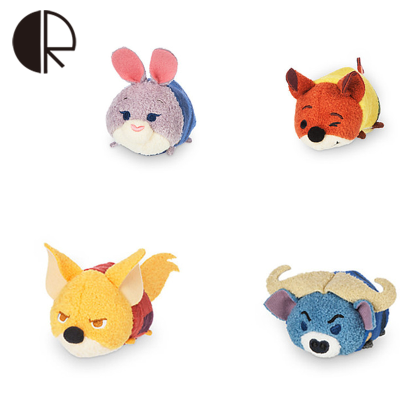 2017 New Arrival Small Stuffed Pendant Tsum Tsum Plush Toys Mini Kawaii Fox Rubbit Dolls Mobile Phone Screen Wipe Free Shipping(China (Mainland))
