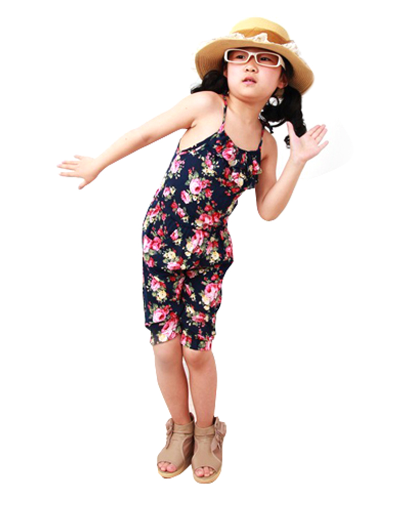 2-8YSummer Style Toddler Girls Clothing Kids Summer Soft Jumpsuit Playsuit Clothing One-piece(China (Mainland))
