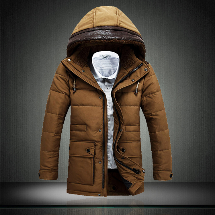 P265 black-matrix 2014 male winter medium-long hood thickening coat 2502 three-color - A Roy's store