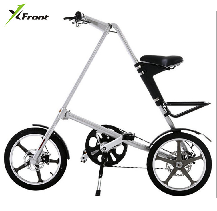 Original X-Front Brand light Aluminum Alloy folding bike load 110kg 14'' / 16'' rubber tire personality bicycle(China (Mainland))